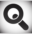 magnifier magnifying glass symbol icon seach vector image vector image