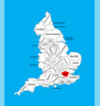 map greater london in united kingdom region vector image
