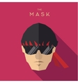 Mask glasses hero man with a red bandage on flat vector image vector image