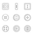 metal clothes button icon set outline style vector image vector image
