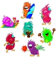 Monsters on the Beach vector image vector image