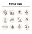 mystical things isolated hand drawn doodles vector image vector image