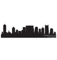 Nashville tennessee skyline detailed silhouette vector | Price: 1 Credit (USD $1)