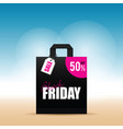 paper bag with black friday icon on it vector image vector image