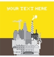 Pixel art urban card vector image vector image