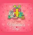 poster for valentines day vector image vector image