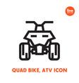 quad bike icon all terrain vehicle atv vector image