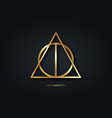 sacred geometry gold logo icon primitive geometric vector image vector image