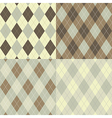 Seamless argyle pattern vector image vector image