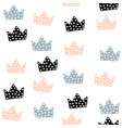 seamless pattern with crowns childish texture for vector image vector image