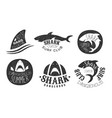 set logos for a surf club vector image vector image