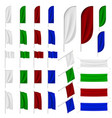 set multicolored flags vector image