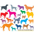 set of colorful dogs silhouettes-3 vector image vector image