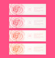 set of four web banners with roses flowers vector image vector image