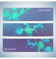 Set of watercolor horizontal backgrounds Modern vector image vector image