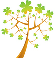 shamrock tree vector illustration vector image vector image