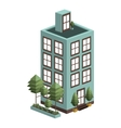 silhouette colorful with residential building vector image vector image