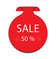 sticker 50 off sale promotion flat badge graphic vector image vector image