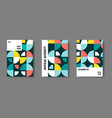 swiss modernism cover annual report magazine vector image