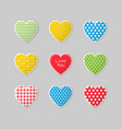 this is a set colorful heart icons vector image