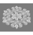 Tracery snowflake on gray background vector image vector image