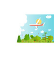 travel banner background with airplane vector image vector image
