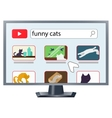 TV with internet vector image
