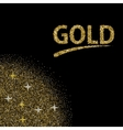 modern gold glitter abstract background vector image