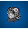brain gears 3 vector image