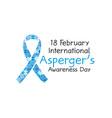 18 february world aspergers awareness day banner vector image