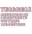 alphabet in pastel triangle texture design vector image