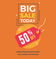big sale today flyer for social media banners vector image vector image