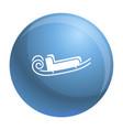blue santa sleigh icon simple style vector image vector image