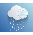cloud background Eps10 vector image vector image