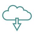 cloud icon download vector image vector image