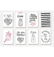 Cute gift tags Love vector image vector image