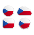 Czech Republic flag labels vector image vector image