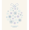 Decoration snowflakes celebration ball vector image vector image