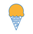 delicious ice cream isolated icon vector image vector image