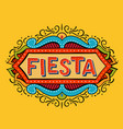 fiesta banner and poster concept design vector image vector image