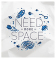 flat more space monogram crumpled vector image vector image