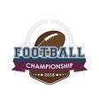 Football championship emblem vector image vector image