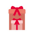 gift boxes with ribbon isolated icon vector image
