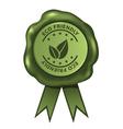 Green Eco Friendly Wax Seal vector image vector image