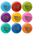 Grocery basket icons vector image vector image