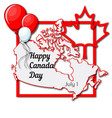 happy canada day july 1 greeting card template vector image