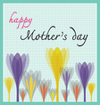 happy mother day with tulip and dot pattern vector image vector image