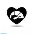 heart black icon love symbol speedometer in vector image vector image