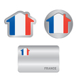 Home icon on the France flag vector image