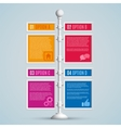 Infographics options banners vector image